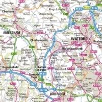 East London Uk Map.Uk Map Marketing Wall Maps