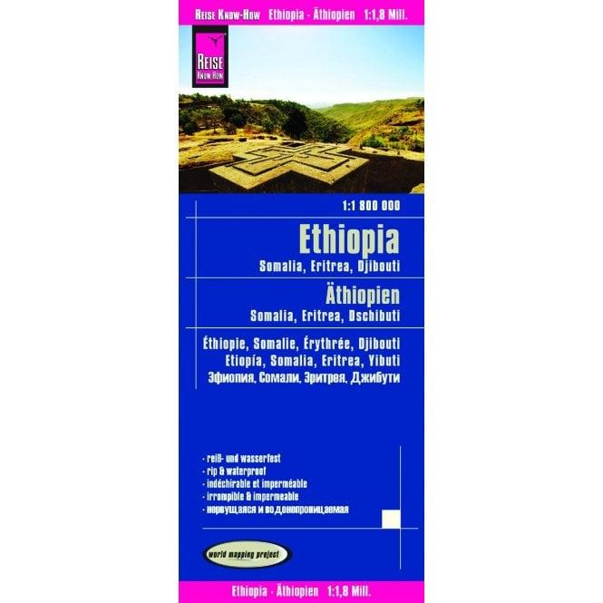 Ethiopia, Somalia, Djibouti & Eritrea Map - Reise Know-How
