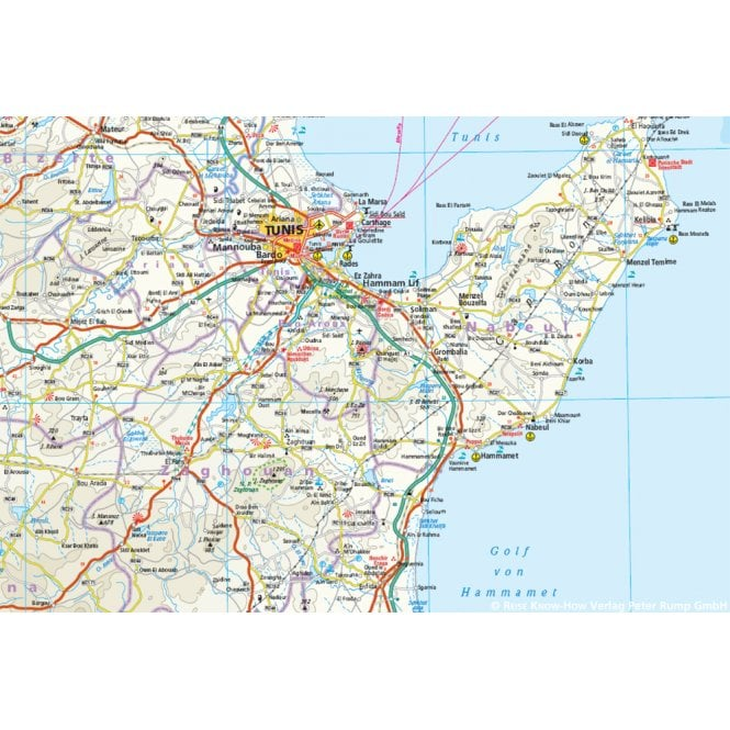 Tunisia Map - Reise Know-How