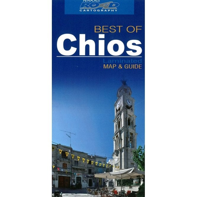 Chios (Greece) \'best of\' tourist map with information guide ...