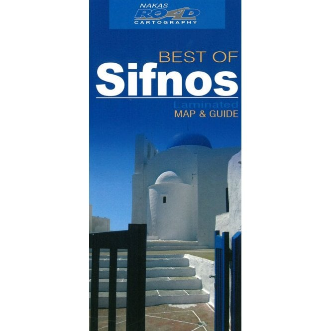 Sifnos Greece Best Of Tourist Map With Information Guide