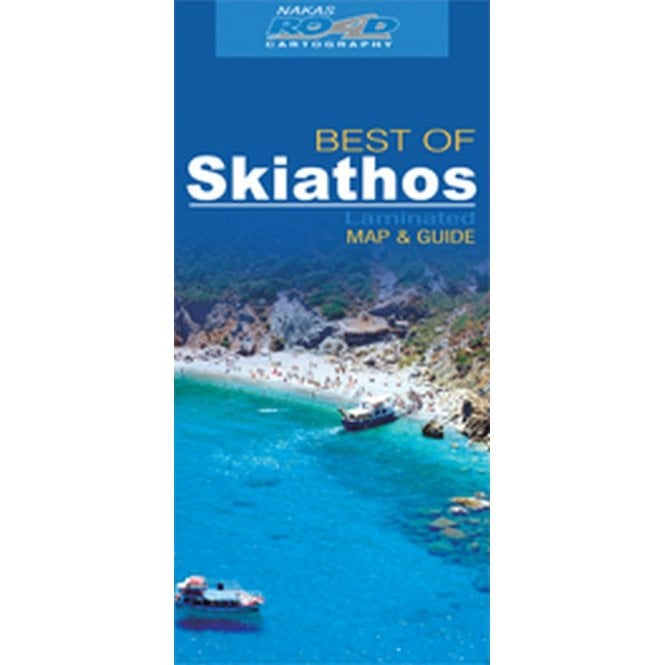 Skiathos (Greece) \'best of\' tourist map with information guide