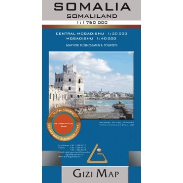 Somalia and Somaliland Geographical Map