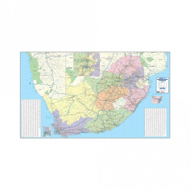 South Africa Wall Map South Africa: Businessmans Wall Map (4 sheets)   MapStudio