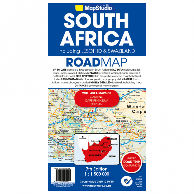 South Africa Lesotho Swaziland Road Map Published By Map Studio