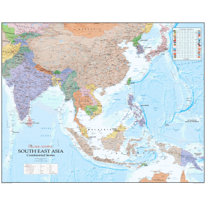 South East Asia Political Paper Wall Map - Global Mapping on global accounting, global infrastructure, global manufacturing, global development, global advertising, global statistics, global engineering, global security,