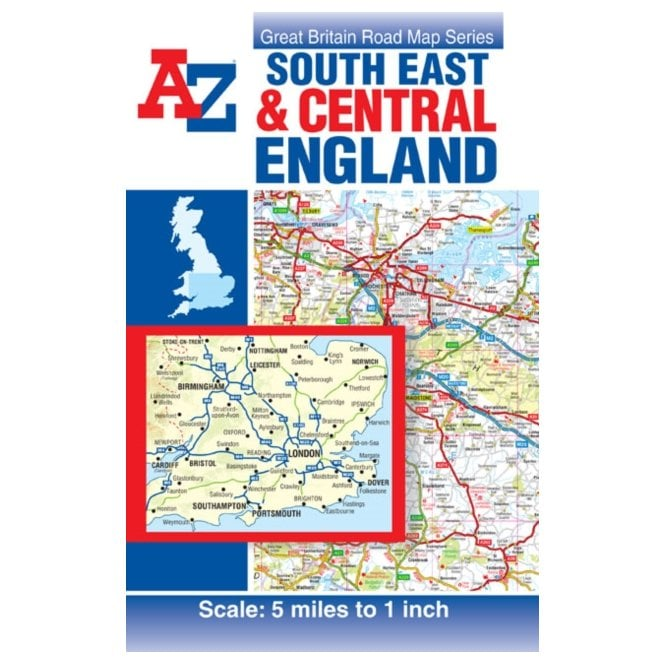 South East & Central England: A-Z Road Map