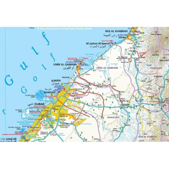 UAE, Dubai, Abu Dhabi Map - Reise Know-How