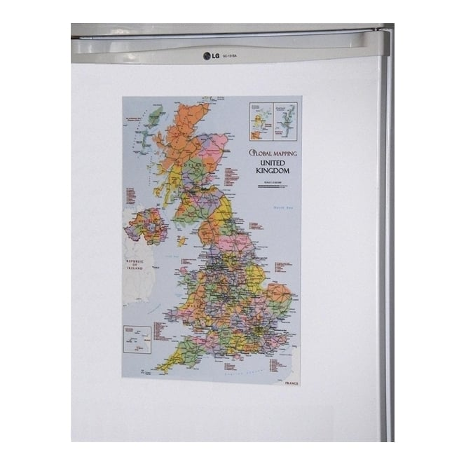 United Kingdom Fridge Magnetic Map