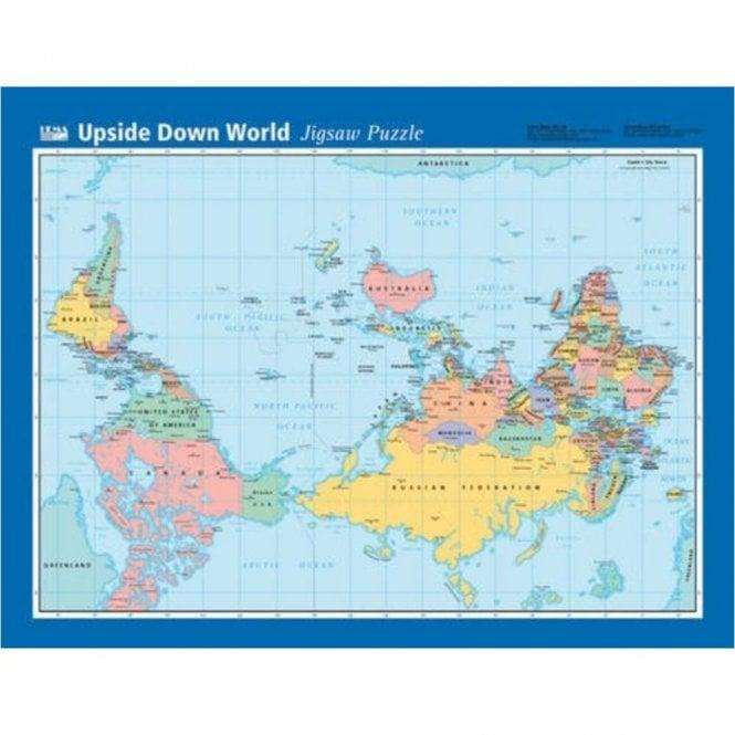 Upside Down Pacific World Jigsaw - 96 Piece