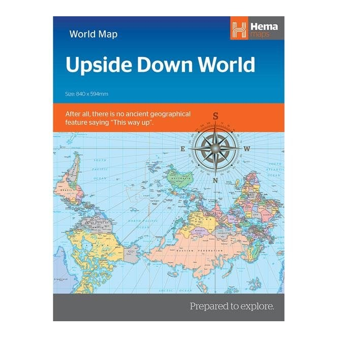 Upside Down World Map Maps Charts Atlases From Maps Worldwide Uk