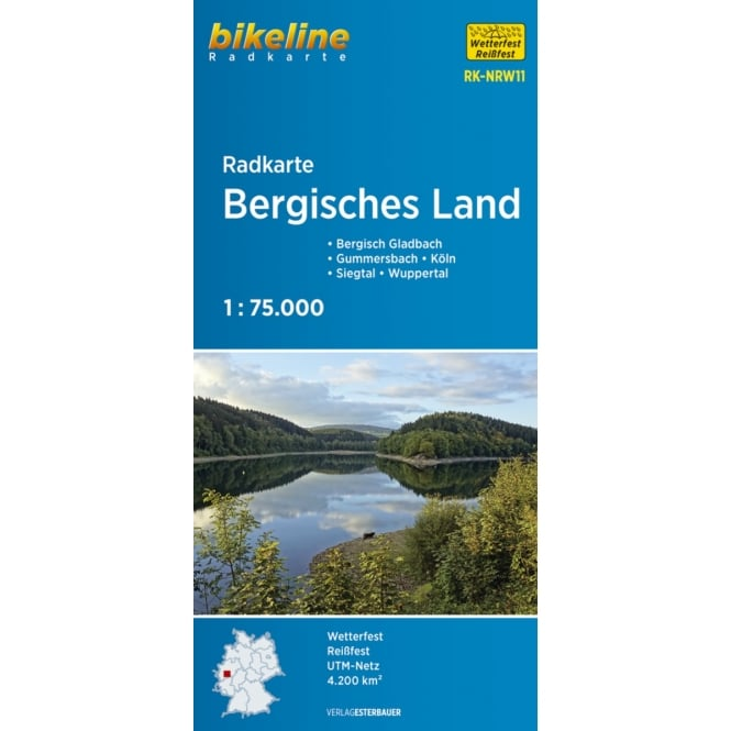 Bikeline Map: Bergisches Land Cycling Map