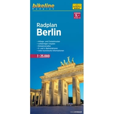 Bikeline Map: Berlin Central Cycling Map
