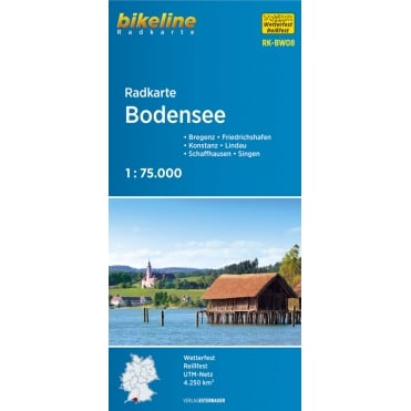 Bikeline Map: Bodensee Cycling Map