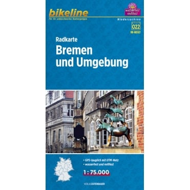 Bikeline Map: Bremen and surroundings Cycling Map
