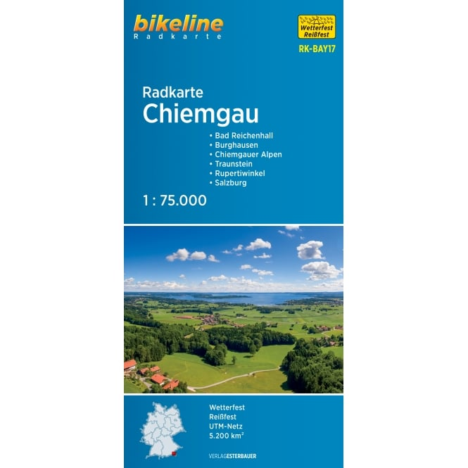 Bikeline Map: Chiemgau Cycling Map
