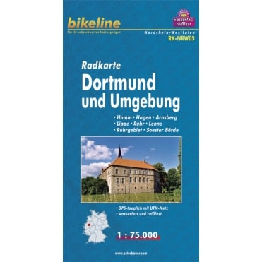 Bikeline Map: Dortmund and surroundings Cycling Map