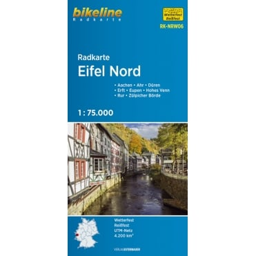 Bikeline Map: Eifel North Cycling Map