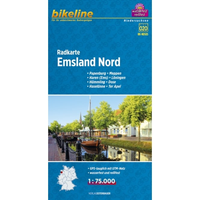 Bikeline Map: Emsland North Cycling Map