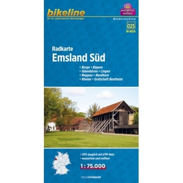 Bikeline Map: Emsland South Cycling Map