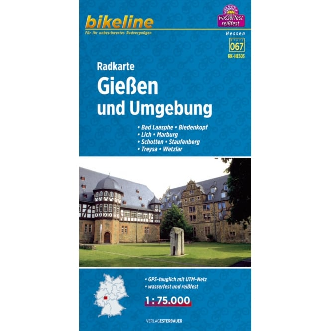 Bikeline Map: Giessen and surroundings Cycling Map