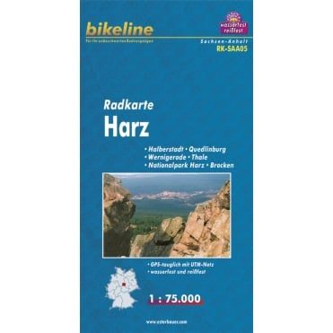 Bikeline Map: Harz Cycling Map