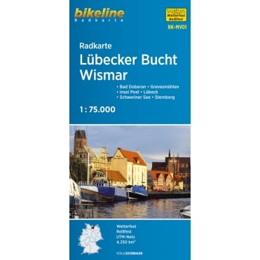 Bikeline Map: Lubecker Bucht - Wismar Cycling Map