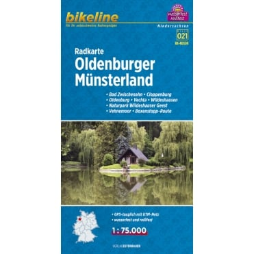 Bikeline Map: Oldenburger Munsterland Cycling Map