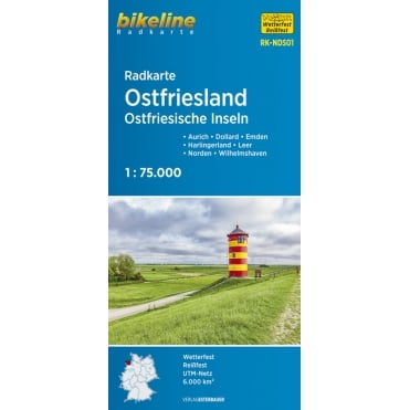 Bikeline Map: Ostfriesland Cycling Map