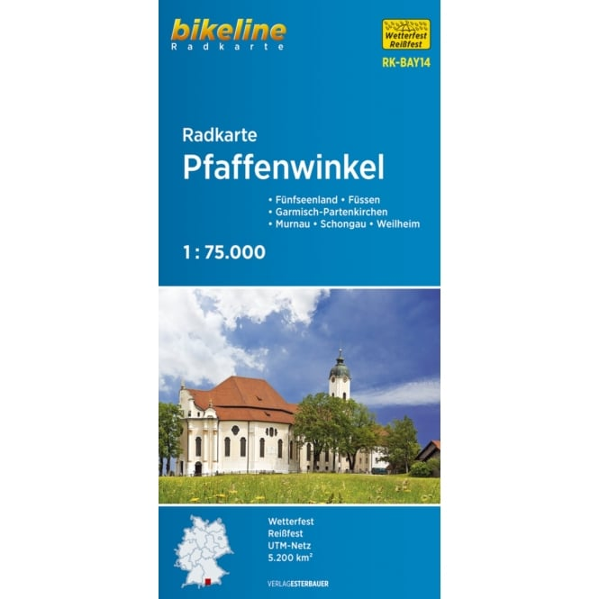 Bikeline Map: Pfaffenwinkel Cycling Map
