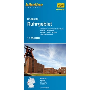 Bikeline Map: Ruhrgebiet Cycling Map