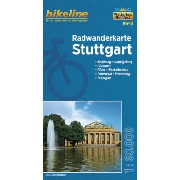 Bikeline Map: Stuttgart Cycling Map