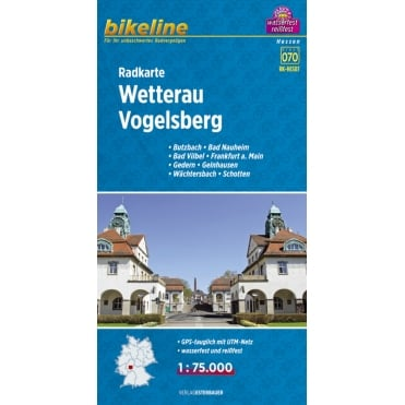 Bikeline Map: Wetterau / Vogelsberg Cycling Map