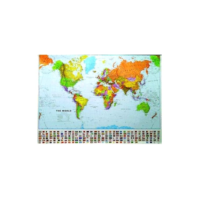 World wall map 130 million laminated with flags large world world wall map 130 million laminated with flags large gumiabroncs Images